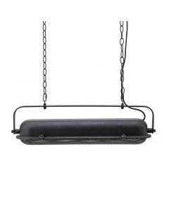 Bernini hanglamp By-Boo zwart geperforeerd metaal