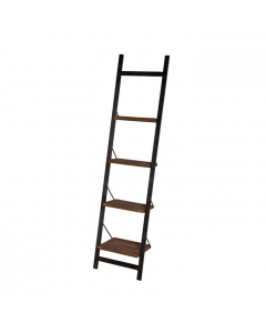 Ladderkast 60 cm mangohout industriële look metalen frame met 4 legplanken