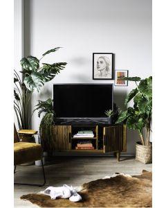 Carter tv meubel 125 cm breed mangohout & marmeren blad Eleonora