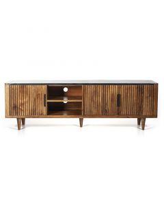 Carter tv meubel 180 cm breed mangohout & marmeren blad Eleonora