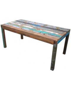 Eettafel, 200 gekleurd hout