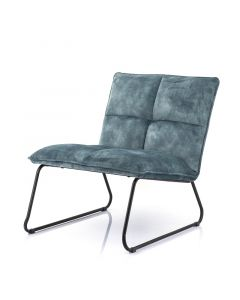 Eleonora Fauteuil Ruby Adore Blauw velours stof