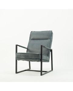 Fauteuil KM 1320 met hoge rug en zwart metalen frame in vele kleuren & materialen leverbaar vanaf