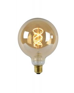 filament LED-Lamp bol 12,5 cm spiraal E27 grote fitting aan