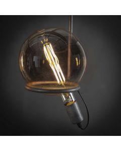 Filament LED-Lamp Bol 20 cm dimbaar E27 fitting amberkleurig glas