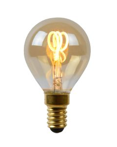Filament LED-Lamp Bol 4,5 cm spiraal E14 kleine fitting