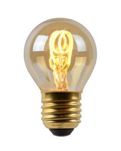 Filament LED-Lamp Bol 4,5 cm spiraal E27 grote fitting aan