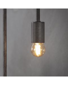 Filament LED-Lamp bol klein 4,5 cm dimbaar E27 fitting amberkleurig glas