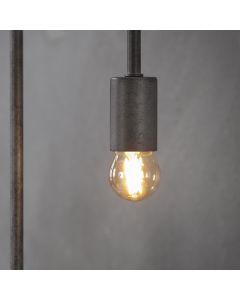 Filament LED-Lamp bol klein 4,5 cm dimbaar E27 fitting amberkleurig glas