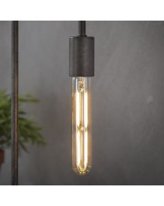 Filament LED-Lamp buis 18,5 cm dimbaar E27 fitting amberkleurig glas