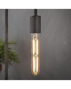 Filament LED-Lamp buis 18,5 cm dimbaar E27 fitting amberkleurig glas