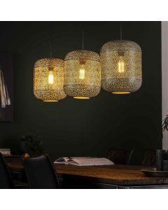 Hanglamp Etch 3L oud zilver metaal