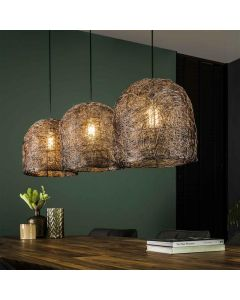 Hanglamp 3L Haystack in Antiek koper metaal