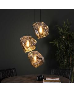 Hanglamp Rock Chromed 3L getrapt
