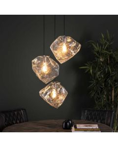 Hanglamp Rock Clear 3L getrapt