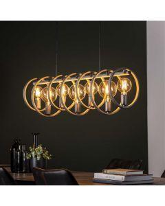 Hanglamp Circular 7L oud zilver metaal