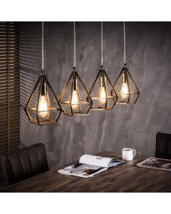 Hanglamp druppel vier lichts brons antiek finish