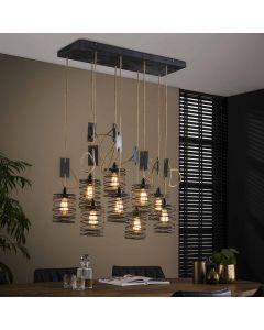 Hanglamp Elevate  5+4  met verstelbaar touw