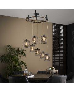 Hanglamp Elevate 7L rond met verstelbaar touw