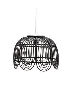 Hanglamp Jin By-Boo bamboe zwart 1L