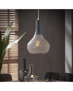 Hanglamp Punch rond 25 cm kegelvormige kap concrete grijs