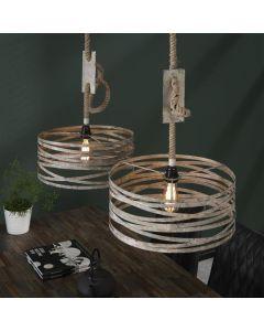Hanglamp twist industrieel  verstelbaar 2L verweerd zink