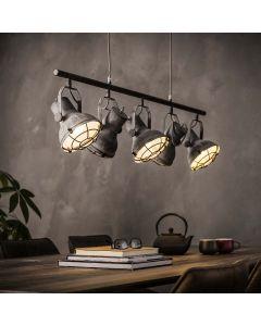 Hanglamp industrieel betonlook 5L aan
