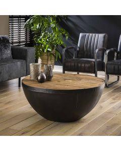 Industriële bowl salontafel Raft 90 cm rond