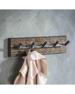 Kapstok Grained robuust hardhout & metaal 60 cm sfeerimpressie