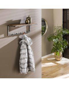 Sfeerimpressie Kapstok Grained robuust hardhout &  metaal 70 cm