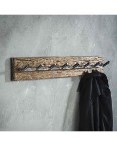 Kapstok Grained robuust hardhout & metaal 90 cm sfeerimpressie