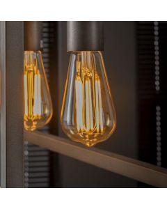 Filament LED-Lamp druppel dimbaar E27 fitting amberkleurig glas