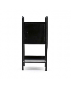 Kastje 33 cm breed Pandora by-boo zwart metaal met deurtje