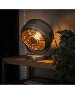 Industriële tafellamp beam 1L aan
