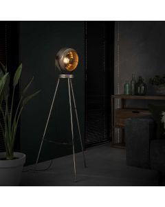 Industriële vloerlamp beam 1L aan