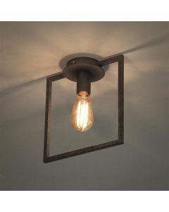Plafondlamp 1L Framed oud zilver metaal