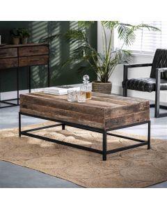 Salontafel Lodge rechthoek 120x60 gerecycled hout