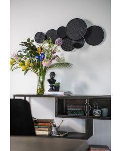 Sfeerfoto Bamboe wanddecoratie Round&Round zwart By-Boo