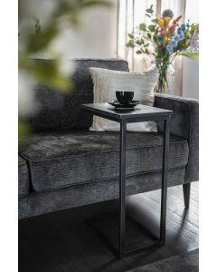 Laptoptafel Edge By-Boo zwart metaal & marmer