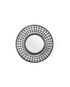 Spiegel Oracle By-Boo 60 cm doorsnee zwart bamboe