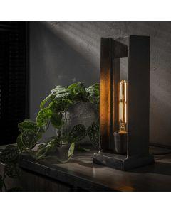 Industriële tafellamp  H-profiel 1L aan