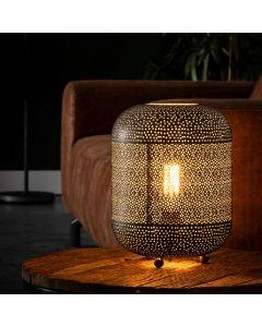 Tafellamp Etch 1L oud zilver metaal