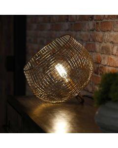 Tafellamp Basket wire 33 cm doorsnee goud metaal