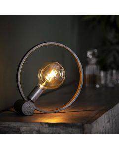 Tafellamp Circular 30 cm oud zilver metaal