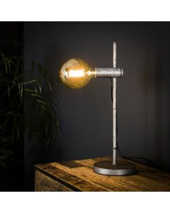 Tafellamp Motion 1L oud zilver metaal