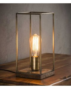 Tafellamp rechthoekig staf 1L aan