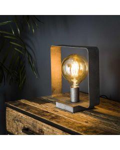 Tafellamp Strip 1L oud zilver metaal
