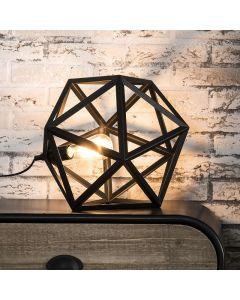Tafellamp triangle zwart metaal