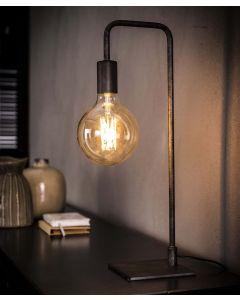 Tafellamp ranke gebogen poot 1L aan