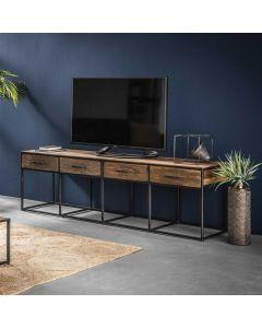 Tv-meubel Float 4 lades hardhout 180 cm breed